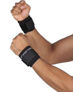 SportSoul Pack of 2 Wrist Support (Free Size, Black)