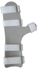 Wellon Cock-Up Splint With Thumb (Right Hand) Palm & Elbow Support (M,  Multicolor)