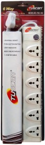 Tuscan Extension Cord - 1.5 Meter Cable 6 Socket Surge Protector