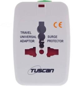 Tuscan Conversion Plug 1 Single Adapter Surge Protector 1 Socket Surge Protector
