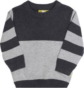 fb0808105 Gini Jony Striped Round Neck Casual Baby Boys Grey sweater Best ...