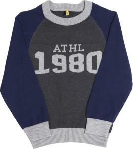 315d4e037 Gini Jony Printed Round Neck Casual Boys Grey Blue sweater Best ...