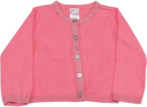 623d082d4 Carter s Solid Round Neck Casual Baby Girls Pink Sweater Best Price ...