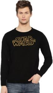 Kook N Keech Self Design Round Neck Casual Men Black Sweater 590de409a84e