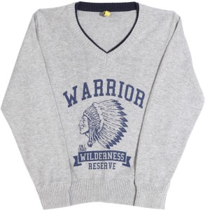 d091455d8 Gini Jony Printed V neck Casual Boys Grey sweater Best Price in ...