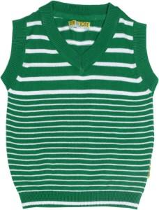6185d3136 Gini Jony Striped V neck Casual Baby Boys Green sweater Best Price ...