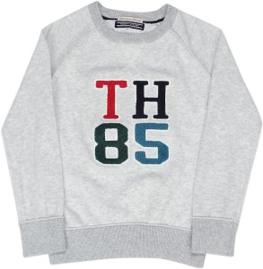 efe723dfbb04 Tommy Hilfiger Applique Crew Neck Casual Boys Grey Sweater Best Price in  India