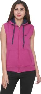 CEE FOR Sleeveless Self Design Women's Sweatshirt