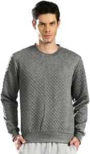 HRX by Hrithik Roshan Full Sleeve Self Design Men's Sweatshirt
