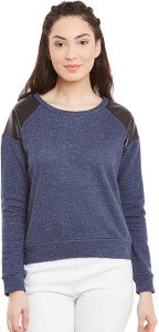 Chill Winston Full Sleeve Solid Women's Sweatshirt