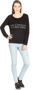 Miss Chick Full Sleeve Solid Women's Sweatshirt