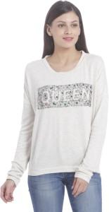 Only Full Sleeve Embellished Women's Sweatshirt