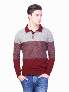 Kalt Full Sleeve Self Design Men's Sweatshirt