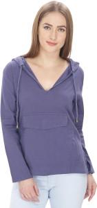 MansiCollections Full Sleeve Solid Women's Sweatshirt