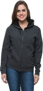 Frenchtrendz Full Sleeve Solid Women's Sweatshirt