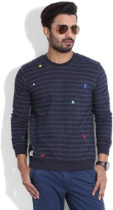United Colors of Benetton Full Sleeve Striped Men's Sweatshirt