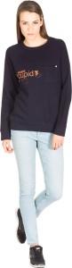Miss Chick Full Sleeve Solid Women's Sweatshirt