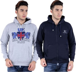 Hardys Full Sleeve Solid Men's Sweatshirt