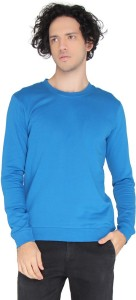 LUCfashion Full Sleeve Self Design Men's Sweatshirt