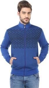 Traks Full Sleeve Self Design Men's Sweatshirt