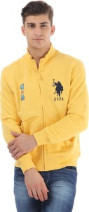 U.S.Polo Association Full Sleeve Solid Men's Sweatshirt