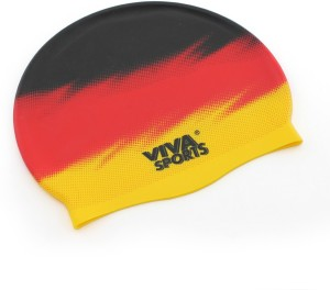 ee38e159 Viva Sports Country Germany Swimming CapYellow, Red, Black, Pack of 1