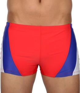 AquaChamp Swimwear - Export Quality - Red Swim Trunk for Men/Boys - 1706 Solid Men's Swimsuit