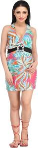 N-Gal Halter Printed Colored Beach Wear Dress Printed Women's Swimsuit