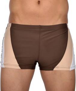 AquaChamp AquaChamp Swimwear - Export Quality - Brown Swim Trunk for Men/Boys - 1706 Solid Men's Swimsuit