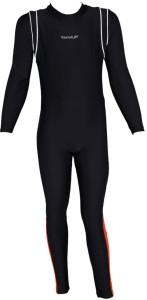 Veloz Girls Swimwear Bodysuit with Full Sleeves and Full Legs Solid Girls Swimsuit