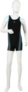 Speedo Monogram Legsuit Solid Girls Swimsuit