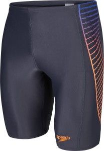 Speedo Colour Blend Placement Panel Jammer Solid Men's Swimsuit