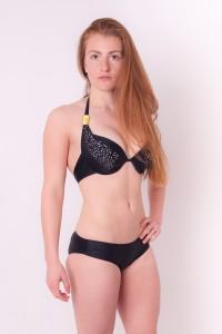Under Cover Lingerie Black Bikini With Rhinestones Embellished Girls Swimsuit