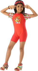 Fascinating Printed Girls Swimsuit