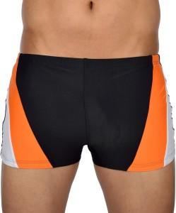 AquaChamp Swimwear - Export Quality - Black Swim Trunk for Men/Boys - 1706 Solid Men's Swimsuit