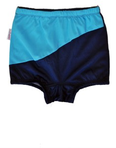 Jhankhi Jhankhi Swimming Trunks With Multi Color light Blue And bark Blue Woven Boys Swimsuit
