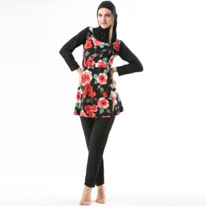Fascinating Modest Muslim Printed Women's Swimsuit
