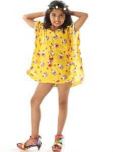 Fascinating Stunning Pom Printed Girls Swimsuit