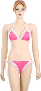 Muquam Triangle Cup Bikini Self Design Women's Swimsuit