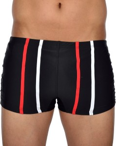AquaChamp Swimwear - Export Quality - Black Swim Trunk for Men/Boys - 1704 Solid Men's Swimsuit