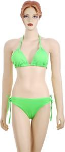 Sizzle N Shine Triangle Cup Bikini Solid Women's Swimsuit