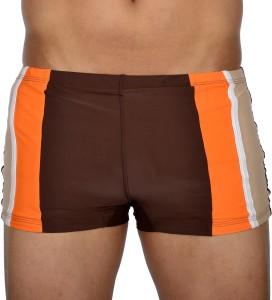 AquaChamp Swimwear - Export Quality - Brown Swim Trunk for Men/Boys - 1701 Solid Men's Swimsuit