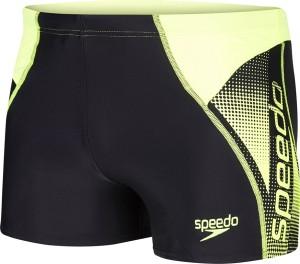 Speedo Logo Panel Aquashort Graphic Print Men's Swimsuit