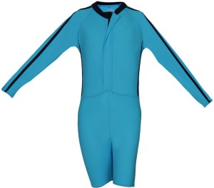 Aquamagica Kids Knee Length Rash Suit Solid Boys Swimsuit