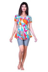 Rovars Geometric Print Women's Swimsuit