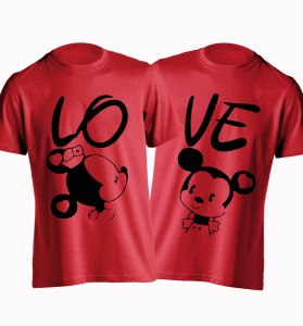 Young Trendz Printed Women's Round Neck Red T-Shirt