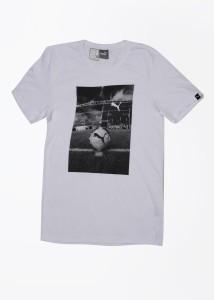694b02d1e0 Puma Printed Men's Round Neck White T-Shirt