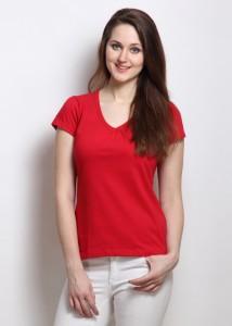 f249db7686 Rigo Solid Women s V neck Red T Shirt Best Price in India | Rigo Solid Women  s V neck Red T Shirt Compare Price List From Rigo Women s Clothing 134408 |  ...