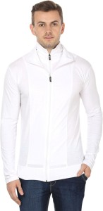 Black Collection Solid Men's Turtle Neck White T-Shirt