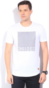 59438e0ac7 LP Jeans by Louis Philippe Printed Men s Round Neck White T-Shirt Price  List